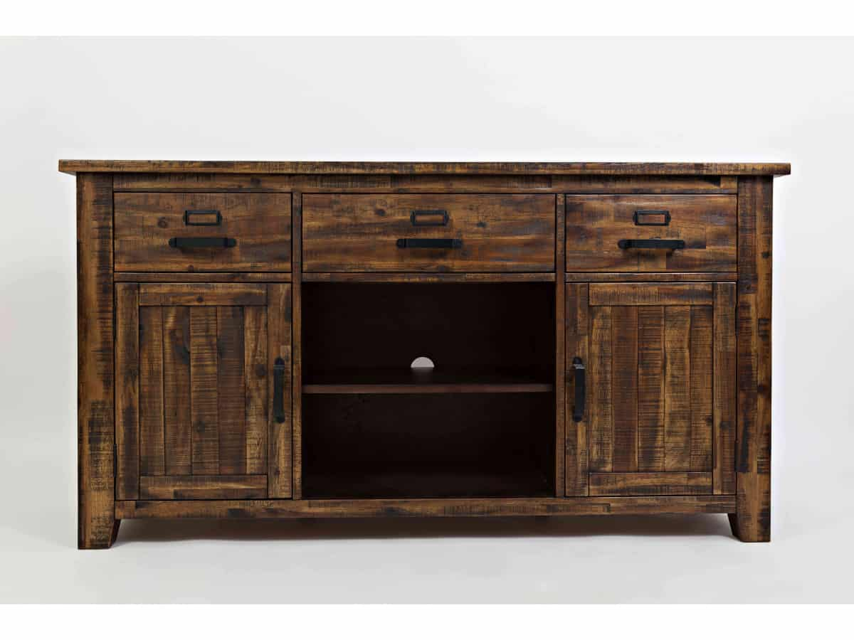Cannon Valley 60 Media Console Brown Squirrel Furniture