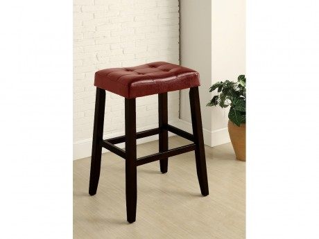 Portman Red Saddle Stool
