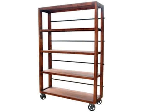 Vintage Wheeled Bookcase