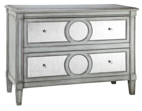 Antiqued Mirror Chest