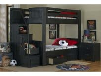 Frisco Walnut Full Bunkbed with Staircase