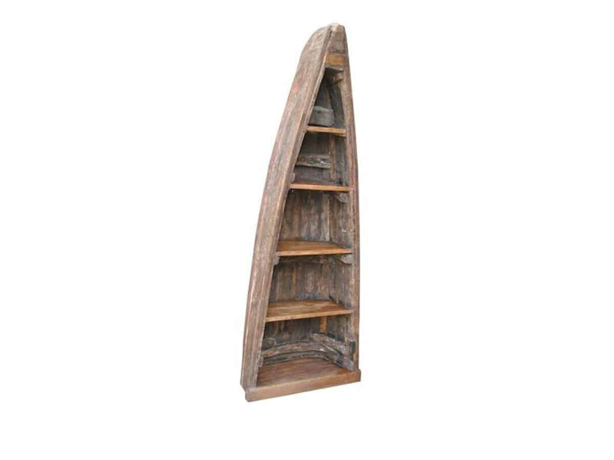 Good Earth Old Canoe Bookcase Brown Squirrel