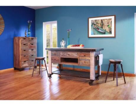 Antique Colors Kitchen Island