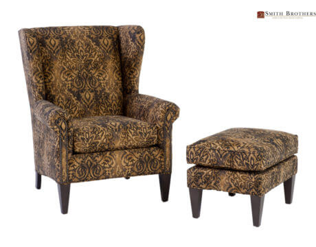 Custom Wingback Chair – 505 Fabric
