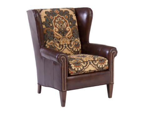 Custom Wingback Chair – 505 Leather