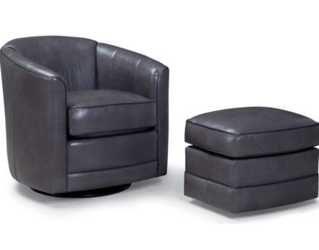 Custom Swivel Chair – 506 Leather