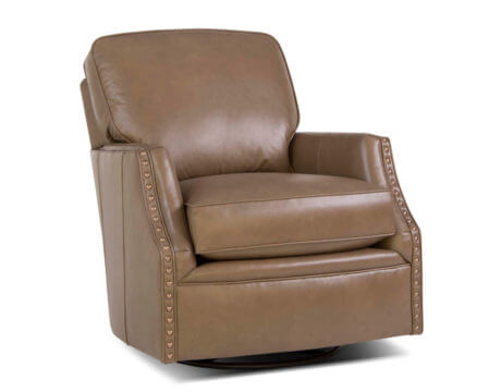 Custom Swivel Chair – 526 Leather