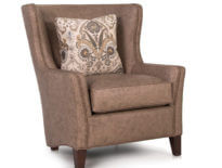 Custom Wingback Chair -825 Leather