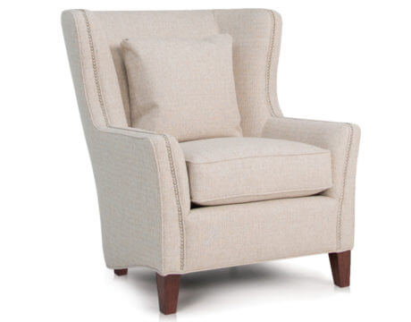 Custom Wingback Chair -825 Fabric