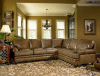 Custom Tailored Leather Sectional-5221
