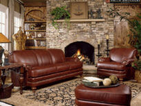 Custom Leather Sofa-346