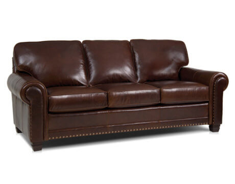 Custom Tailored Leather Sofa -393L