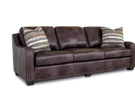 Custom Tailored Leather Sofa -245L